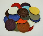 Leather circle x10, 3,5cm, mixed colours