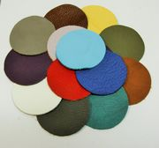 Leather circle x10, 5cm, mixed colors