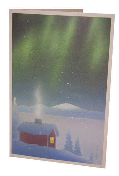 Foldable card, Northern lights